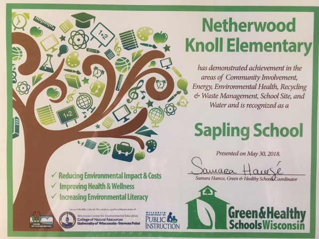 "NKE Receives ""Sapling School"" Status"