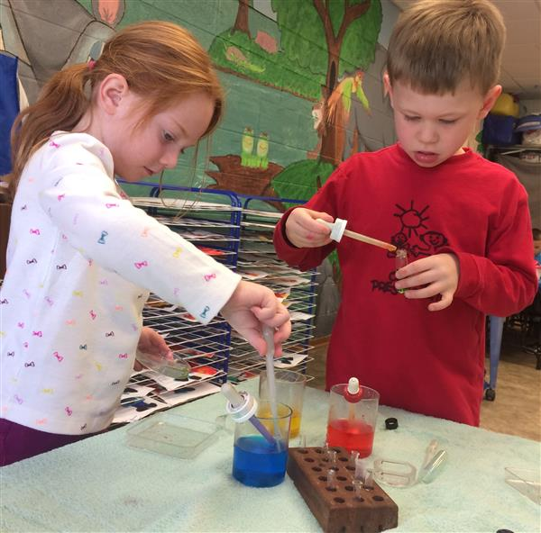 Early Learning Students Experimenting