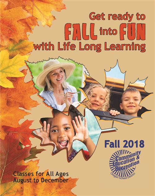 Fall 2018 Community Ed Cover
