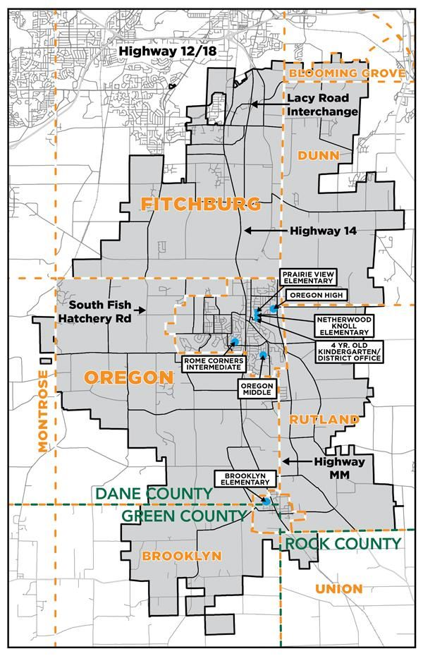 Oregon School District Map